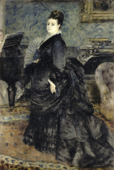 Art Prints of Portrait of a Woman, Madame Georges Hartmann by Pierre-Auguste Renoir