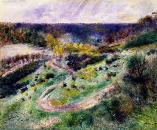 Art Prints of Road at Wargemont by Pierre-Auguste Renoir