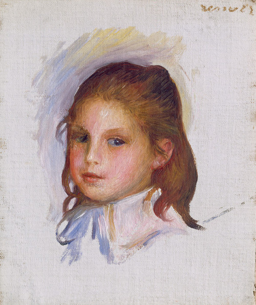 Art Prints of Child with Brown Hair by Pierre-Auguste Renoir