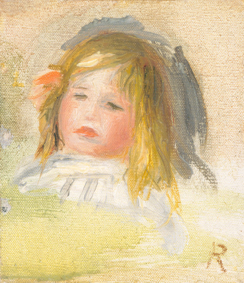 Art Prints of Child with Blond Hair by Pierre-Auguste Renoir