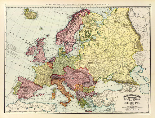 Art Prints of Europe, 1897 (3565006) by Rand McNally and Company