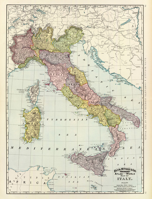 Art Prints of Italy, 1897 (3565019) by Rand McNally and Company