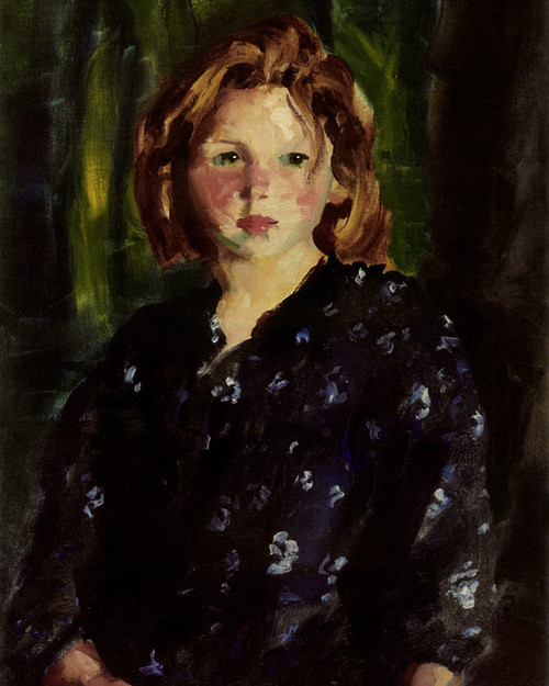 Art Prints of Portrait of a Young Girl by Robert Henri