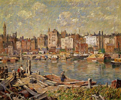 Art Prints of Harlem River by Robert Spencer