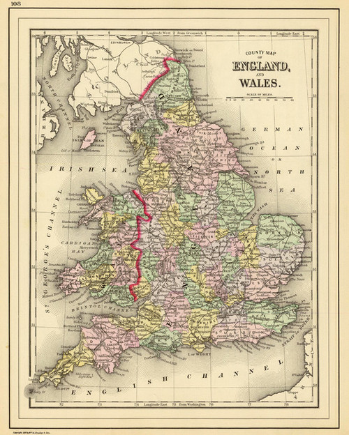Art Prints of England and Wales, 1890 (0594057) by Samuel Augustus Mitchell