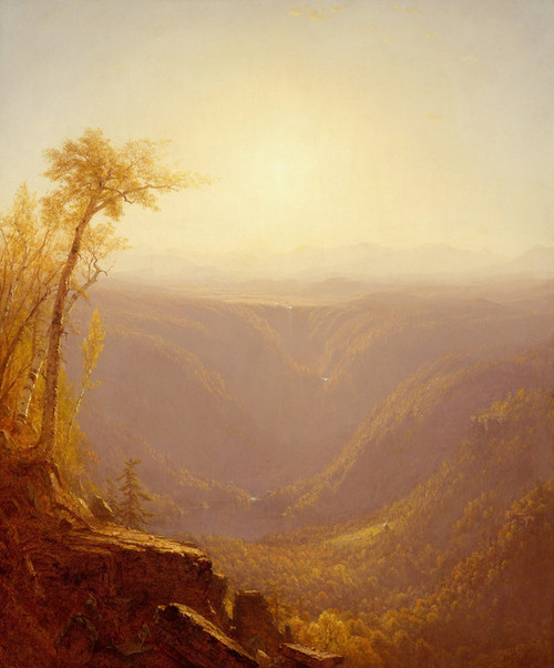 Art Prints of A Gorge in the Mountain by Sanford Robinson Gifford