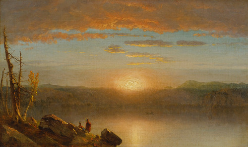 Art Prints of Indians at Sunset by Sanford Robinson Gifford