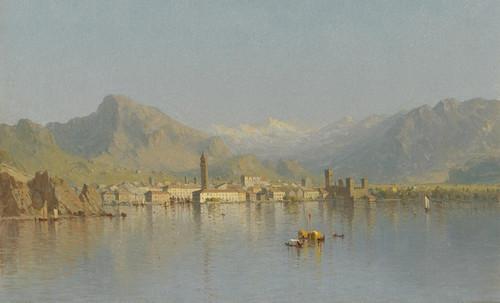 Art Prints of Riva Lago di Garda by Sanford Robinson Gifford