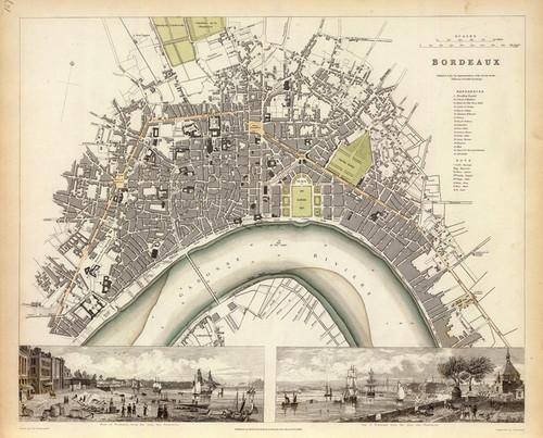 Art Prints of Bordeaux, 1832 (0890165), Great Britain Map