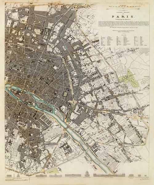 Art Prints of Paris, Eastern Division, 1834 (0890195), Great Britain Map