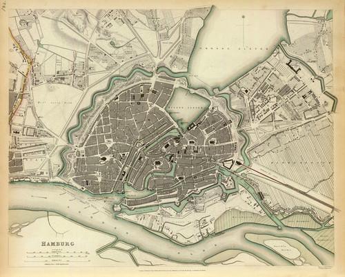 Art Prints of Hamburg, 1841 (0890180), Great Britain Map