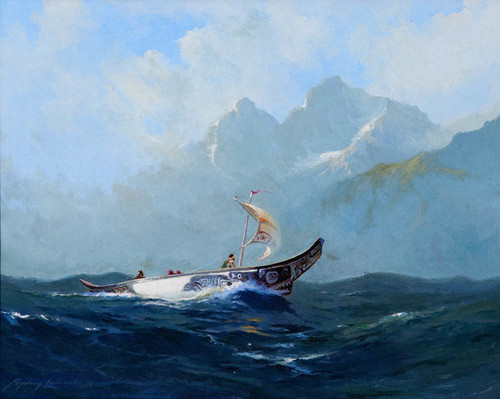 Art Prints of Chilkat Indian Canoe I by Sydney Laurence
