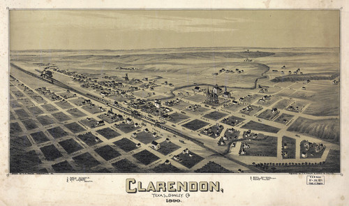 Art Prints of Clarendon, Texas, 1890 by Thaddeus Mortimer Fowler
