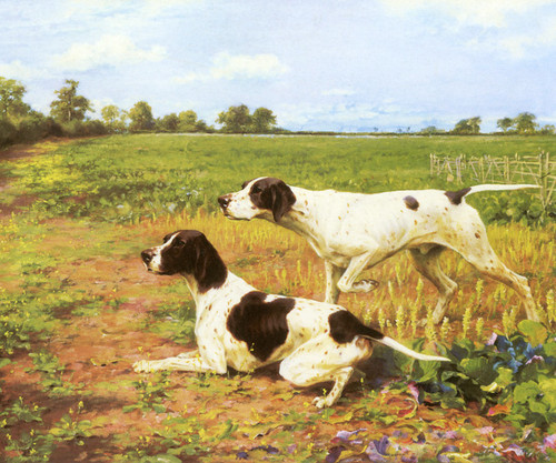 Art Prints of Pointers in a Landscape II by Thomas Blinks