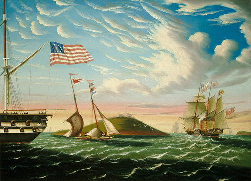 Art Prints of Boston Harbor by Thomas Chambers