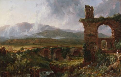 Art Prints of A View near Tivoli by Thomas Cole