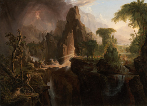Art Prints of Expulsion from the Garden of Eden by Thomas Cole