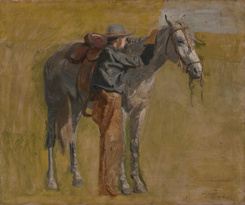 Art Prints of Cowboy Study for Cowboys in the Badlands by Thomas Eakins
