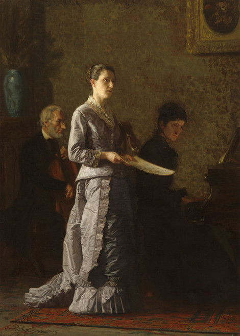 Art Prints of Singing a Pathetic Song by Thomas Eakins