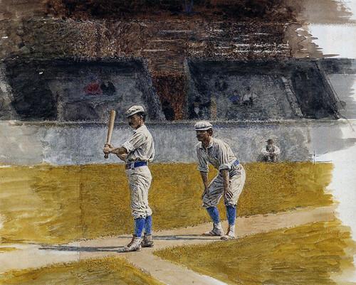 Art Prints of Baseball Players Practicing by Thomas Eakins