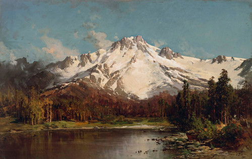 Art Prints of Mount Tallac from Lake Tahoe, 1880 by Thomas Hill