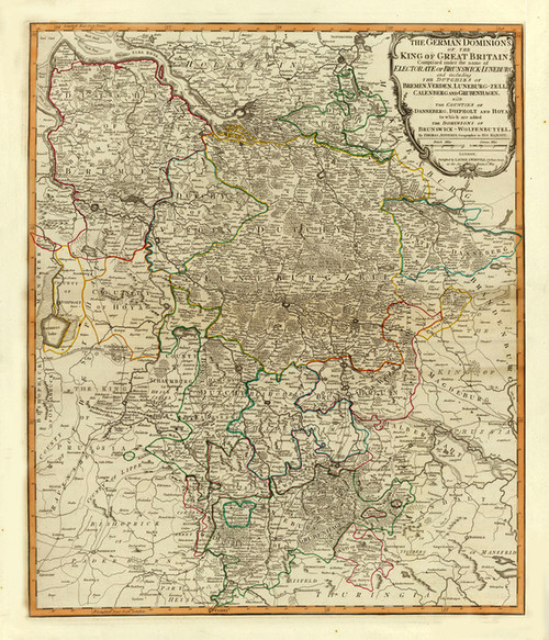 Art Prints of Dominions of Great Britain (2310042) by Jefferys, Kitchin and Laurie