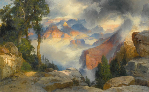 Art Prints of Clouds in the Canyon by Thomas Moran