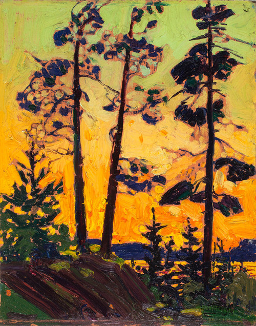 Art Prints of Pine Trees at Sunset by Tom Thomson