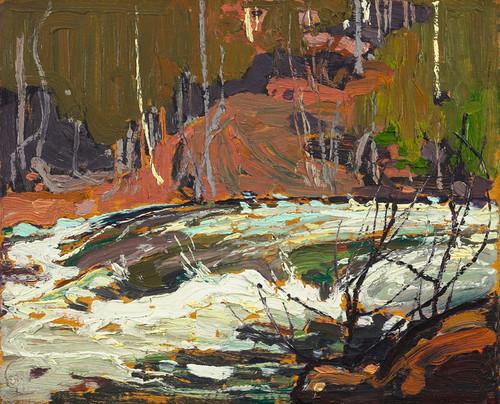 Art Prints of Rapids on Muskoka River by Tom Thomson