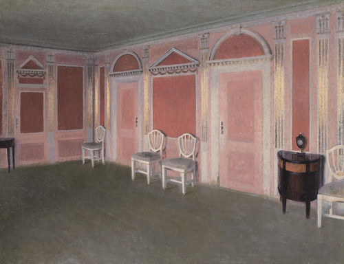 Art Prints of Interior in Louis Seize Style by Vilhelm Hammershoi