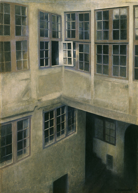 Art Prints of Interior of Courtyard, Strandgade by Vilhelm Hammershoi