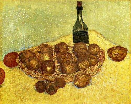 Art Prints of Basket with Lemons, 1888 by Vincent Van Gogh