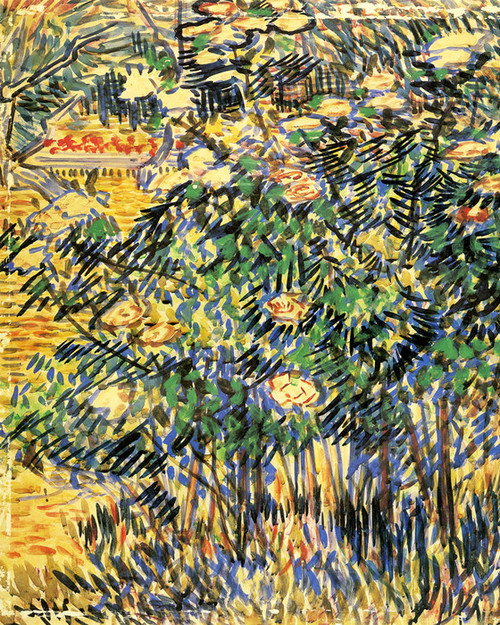 Art Prints of Flowering Shrubs, 1889 by Vincent Van Gogh