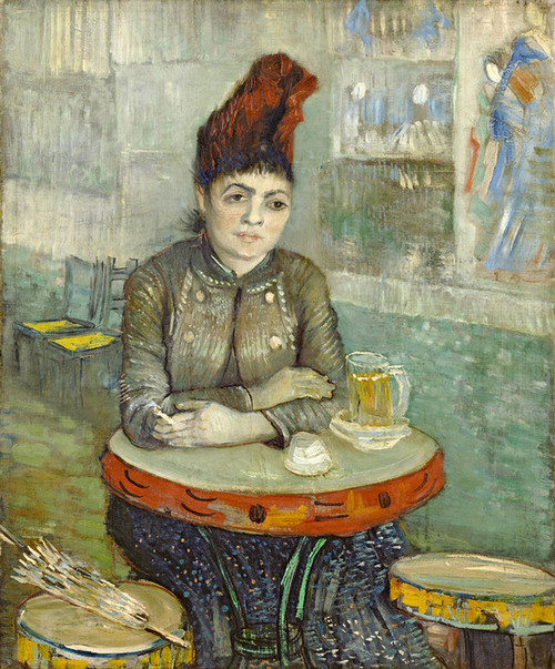Art Prints of In the Cafe, Agostina Segatori in Le Tambourin by Vincent Van Gogh