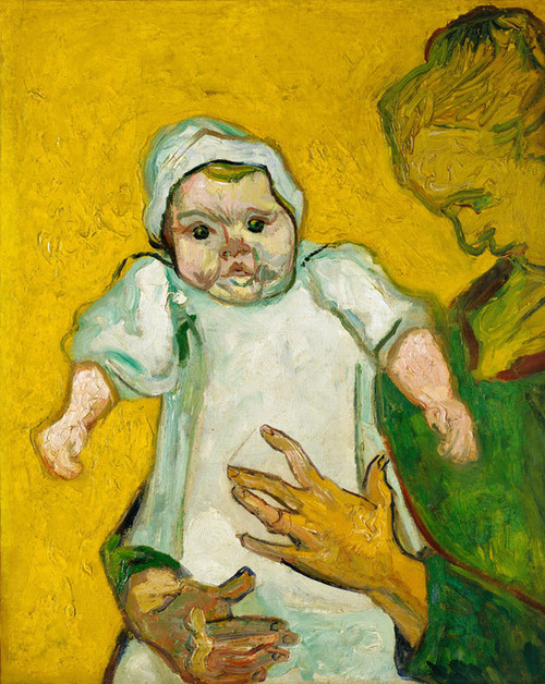 Art Prints of Madame Augustine Roulin and Her Baby by Vincent Van Gogh