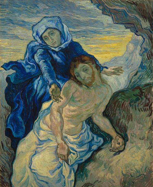 Art Prints of Pieta (after Delacroix) by Vincent Van Gogh