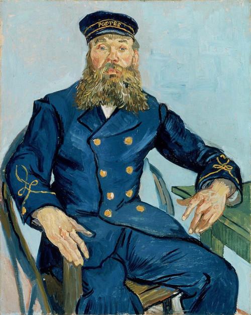 Art Prints of Portrait of Postman Joseph Roulin by Vincent Van Gogh