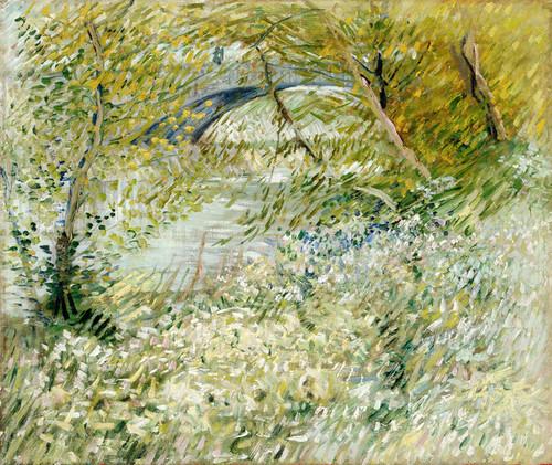 Art Prints of River Bank in Springtime by Vincent Van Gogh