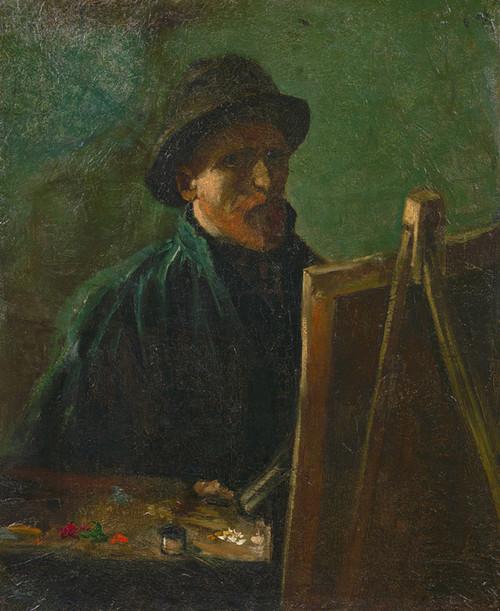 Art Prints of Self Portrait as a Painter II by Vincent Van Gogh