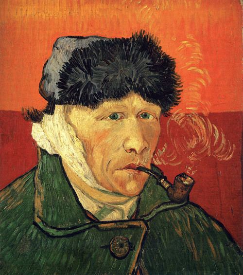 Art Prints of Self Portrait with Bandaged Ear and Pipe by Vincent Van Gogh