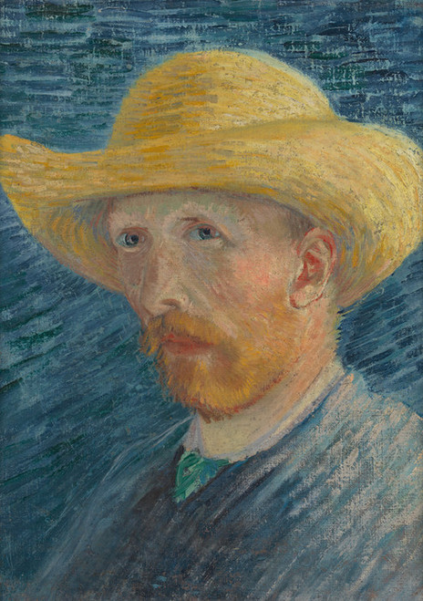 Art Prints of Self Portrait in a Straw Hat IV by Vincent Van Gogh