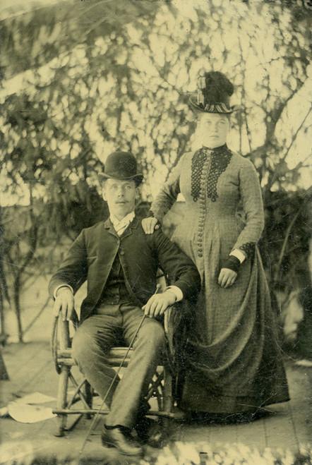 Art Prints of Portrait of a Couple, Tintype 13, Vintage Tintype