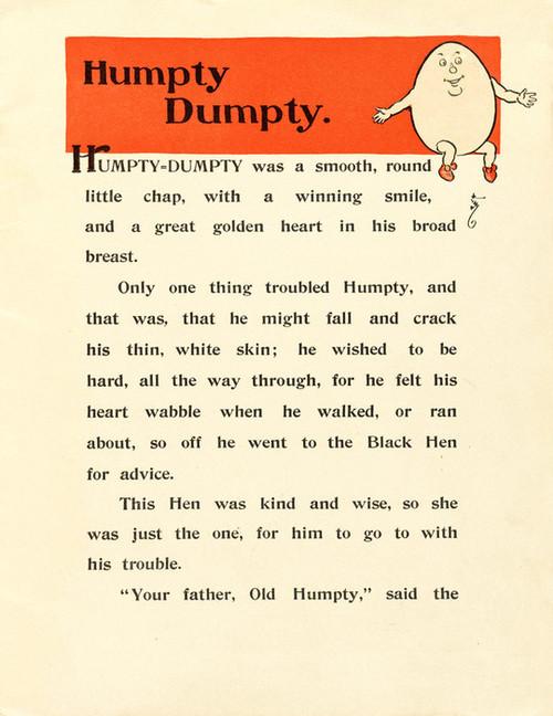Art Prints of Humpty Dumpty, Page 3 by W.W. Denslow, Children's Book