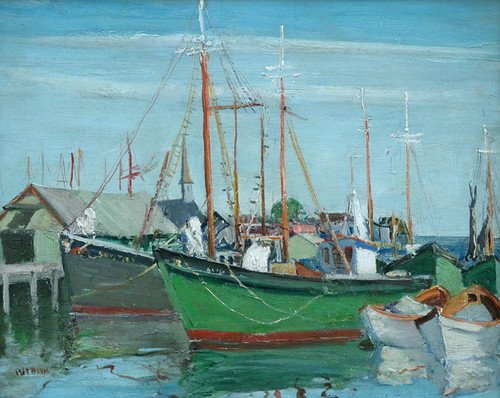 Art Prints of Provincetown Boats by Walter Baum