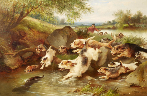 Art Prints of Otter Hunt, Taking Cover by Walter Hunt