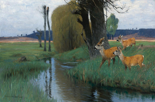 Art Prints of Bleak Spring Morning by Wilhelm Kuhnert