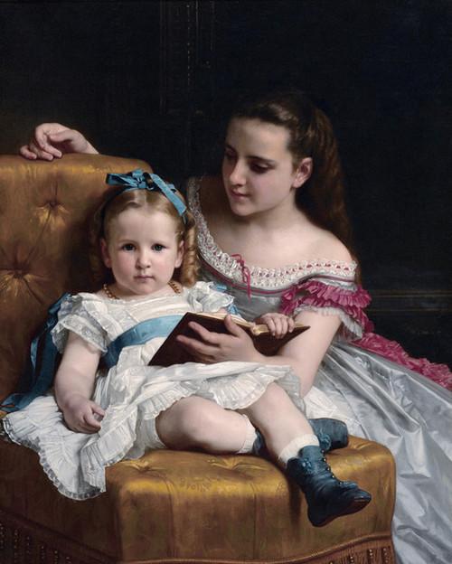 Art Prints of Portrait of Eva and Frances Johnson by William Bouguereau
