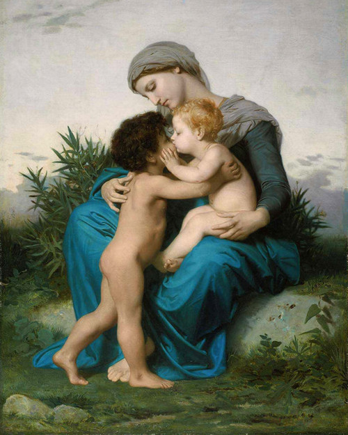Art Prints of Fraternal Love by William Bouguereau