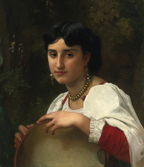 Art Prints of Italian Tambourine by William Bouguereau