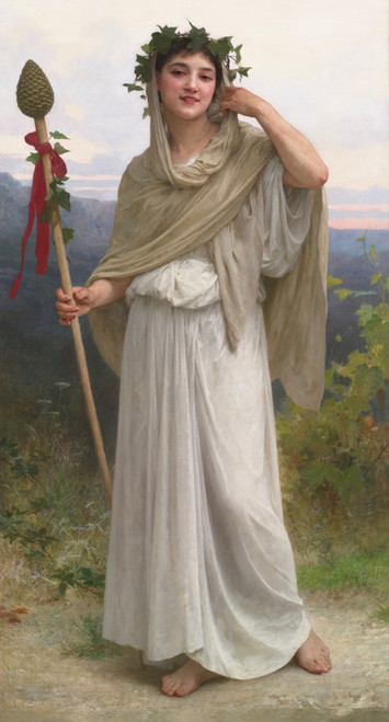 Art Prints of Priestess of Bacchus by William Bouguereau